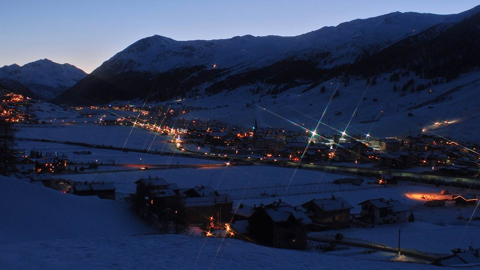 Livigno all'imbrunire